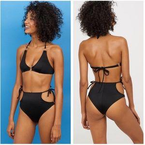 H&M CONSCIOUS High Waist Brazilian Bikini Size 8
